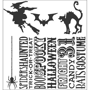 Aqualink Nevada, Llc Tim Holtz Cling Rubber Stamp Set-Halloween Silhouettes