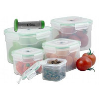 Style Asia HW0165 Vacuum Seal Container Set- Pack of 6