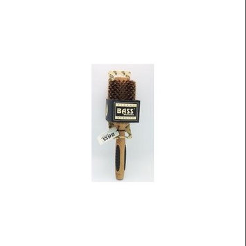 Bass Brushes Brush - Large Round 100% Wild Boar Bristles Long Hair Styles Light Wood Bass Bru