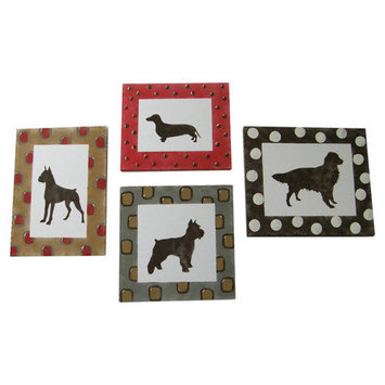 Cotton Tale Designs Houndstooth Wall Art 4 Piece