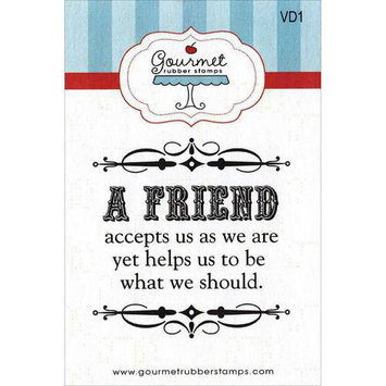 Gourmet Rubber Stamps Cling Stamps 2.75inX4.75inWhen I Count My Blessings