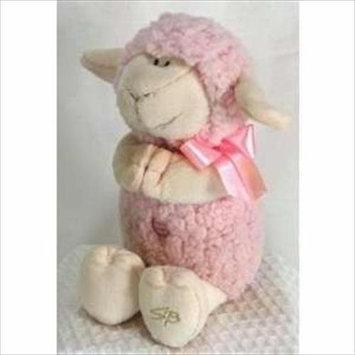 Stephan Baby Wooly Praying Lamb - Pink