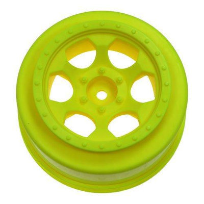 TRINIDAD SC WHEELS FOR SLASH 2WD FRONT - YELLOW DERSCTFY DEEC3032 DE Racing