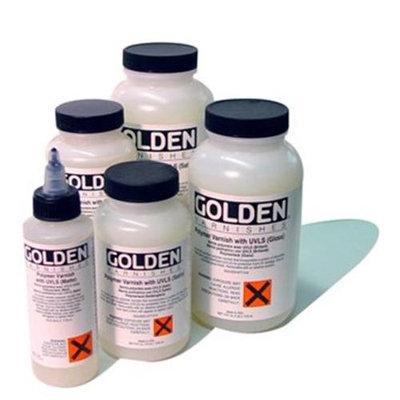 Golden 0007715-4 4Oz Polymer Varnishes with UVLS Satin