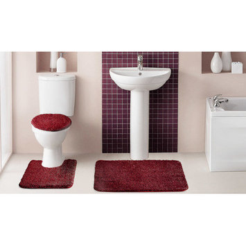 Popular Bath Products Popular Bath Saratoga 3 Piece Solid Bath Rug Set