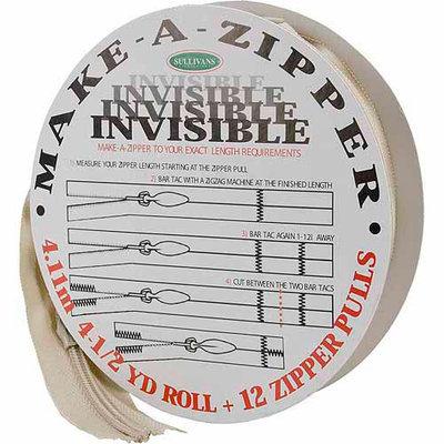 Sullivans Make-A-Zipper Kit Invisible, 4-1/2 yds