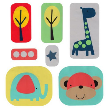 Sumersault Zoo Squares Wall Decals