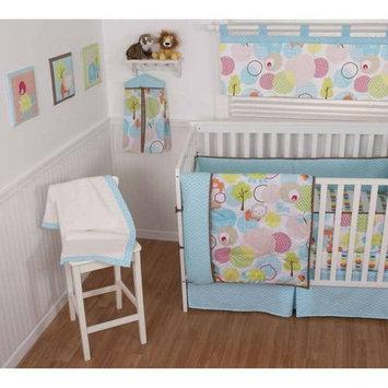 Sumersault Ltd Sumersault Sweet Petite Animals 4pc Crib Set