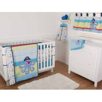 Sumersault Ltd Sumersault Sea Pirate 4 Piece Crib Set