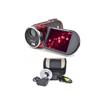 Top Year International 16MP (Interpolated) Digital Camcorder w/8x Digital Zoom, 3.0 (RED)