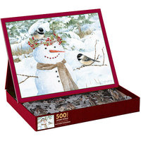Lang Chickadee Snowman Puzzle, 500 Pieces