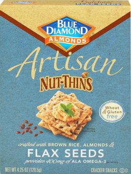 Blue Diamond Almonds Artisan Nut Thins Flaxseed-4.25 oz Box