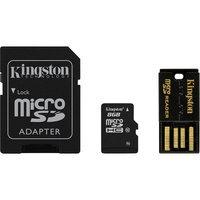 Kingston 8GB Micro SDHC Flash Card Multi-Kit/Mobility Kit