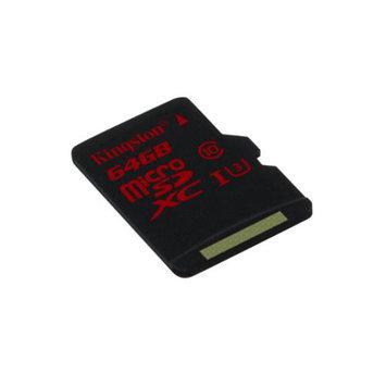 Kingston 64GB Microsd Extended Capacity [microsdxc] - Class 3/uhs-i - 90 Mbps Read - 80 Mbps Write - 1 Card/1 Pack (sdca3-64gbsp)