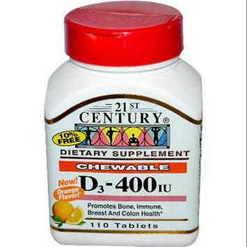 21st Century Chewable D3-400 IU 110 Orange Tablets