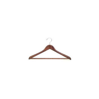 Proman GMA8818 Suit Hanger with Wooden Bar Light Walnut