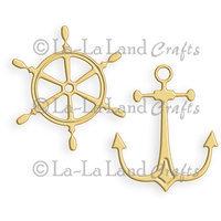 La La Land Crafts La-La Land Die 2/Pkg-Wheel And Anchor