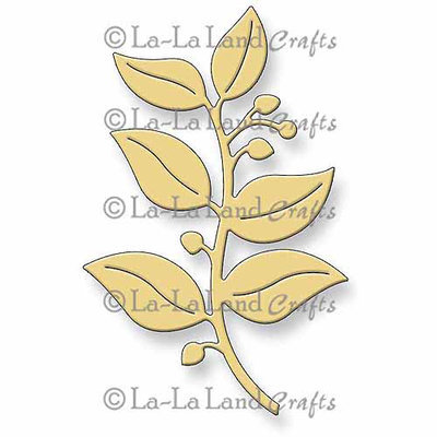 La La Land Crafts La-La Land Die-Berry Flourish 3.5X2.25