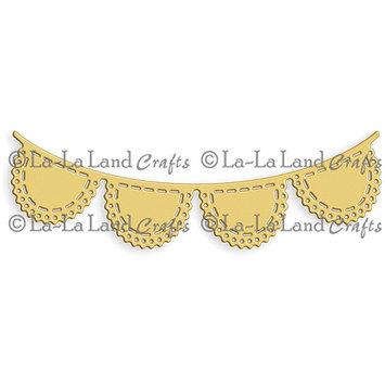 La La Land Crafts La-La Land Die-Scalloped Banner, 1