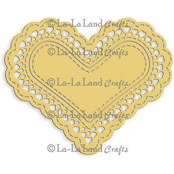 La La Land Crafts La-La Land Die-Heart Doily, 3.25