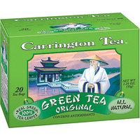 Carrington Tea Original Green Tea Bags, 20 count per box, 1.25 oz, Pack of 6