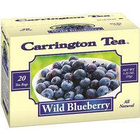 Carrington Tea Wild Blueberry Tea Bags, 20 count per box, 1.25 oz, Pack of 6