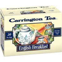 Carrington Tea English Breakfast Tea Bags, 20 count per box, 1.25 oz, Pack of 6