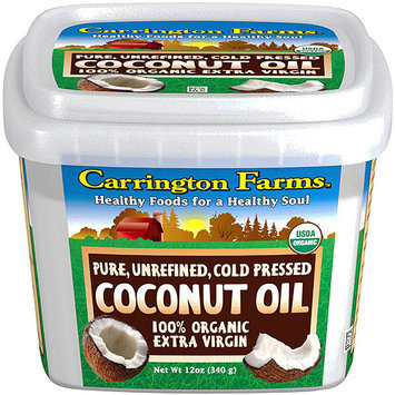 Carrington Farms - 100% Organic Pure Unrefined Cold Pressed Extra Virgin Coconut Oil