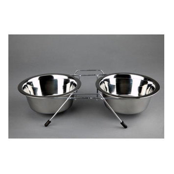 Advance Pet Products Double Elevated Feeder Capacity: 3 Quarts