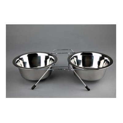 Advance Pet Products Double Elevated Feeder Capacity: 0.25 Quart