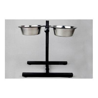 Advance Pet Products H-Shaped Double Elevated Feeder Capacity: 2 Quarts