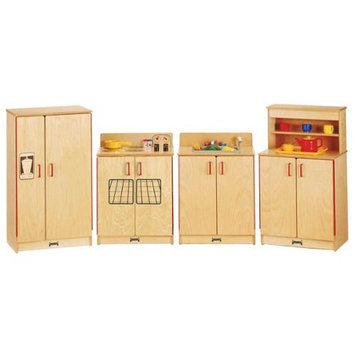 Jonti-Craft ThriftyKYDZ Natural Birch Kitchen - 4 Piece Set