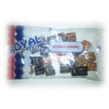 Royal Candy Assorted Caramels Candy Case of Six 6 Oz. Bags