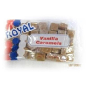 Royal Candy Vanilla Caramels Candy Case of Six 6 Oz. Bags