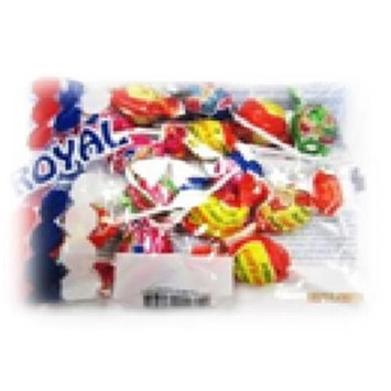 Royal Candy Bubble Gum Lollipops Case of Six 6 Oz. Bags