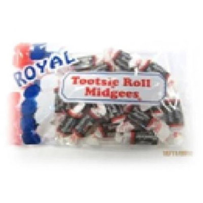Royal Candy Tootsie Roll Candy Case of Six 4 Oz. Bags