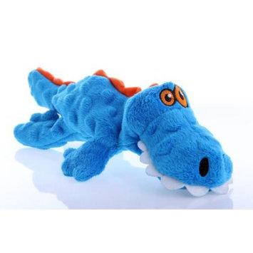 Quaker Pet Group goDog Plush Blue Gator Dog Toy Small