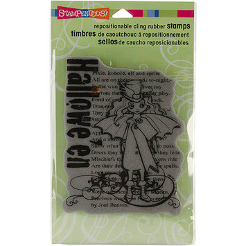 Stampendous Halloween Cling Rubber Stamp-Halloween Sprite