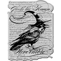 Stampendous Halloween Cling Rubber Stamp-Raven Background