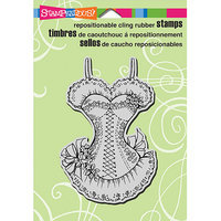 Stampendous Cling Rubber Stamp-Ruffled Corset