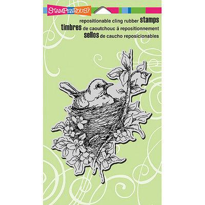 Stampendous Cling Rubber Stamp-Nestléd Bird