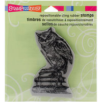 Stampendous Cling Rubber Stamp-Literary Owl