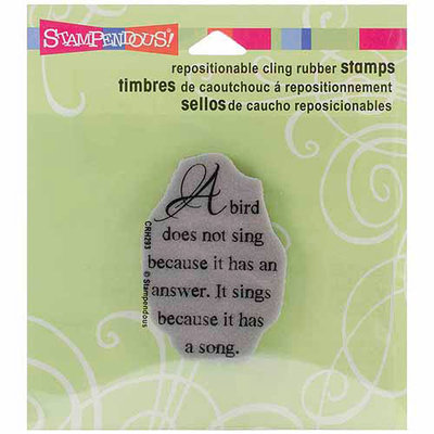Stampendous Cling Rubber Stamp-Lion Reader