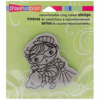 Stampendous Halloween Cling Rubber Stamp - Mirror Mirror