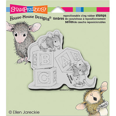 NOTM281633 - Stampendous House Mouse Cling Rubber Stamp 5.5