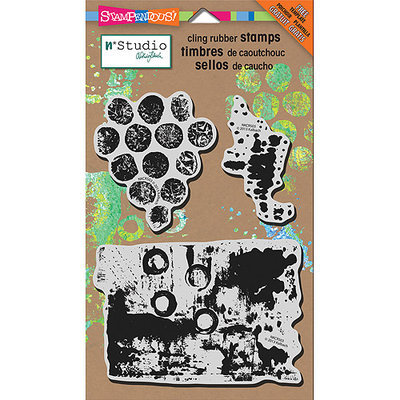 Stampendous NKCRS03 Stampendous N*studio Cling Rubber Stamp 5 in. x 8 in. Sheet-Grunge