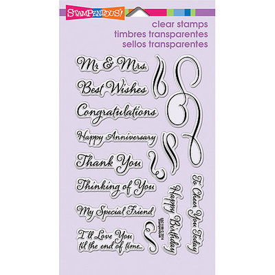 Stampendous Perfectly Clear Stamps 4inX6in Sheet-Loving Messages