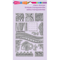 Stampendous Perfectly Clear Stamps 4inX6in Sheet-Penpattern Tile