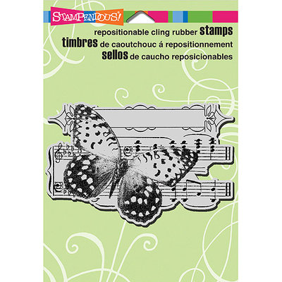 Stampendous Cling Rubber Stamp 5.5inX4.5in Sheet -Butterfly Tune