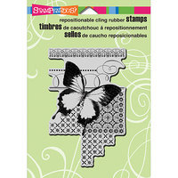 Stampendous Cling Rubber Stamp 5.5inX4.5in Sheet -Butterfly Pattern